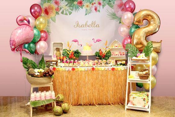 Matrimonio Tema Tropical : Fiesta hawaiana decoracion de fiestas cumpleaños
