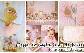 Fiesta infantil con tema de bailarinas – ballet