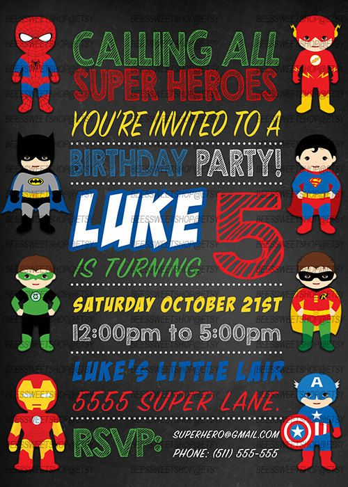 Ideas De Invitaciones Para Fiesta Infantil De Super Heroes