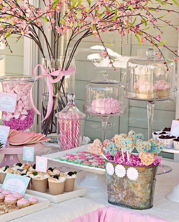 Ideas de mesas de postres para baby shower 12 for Mesas decoradas para fiestas