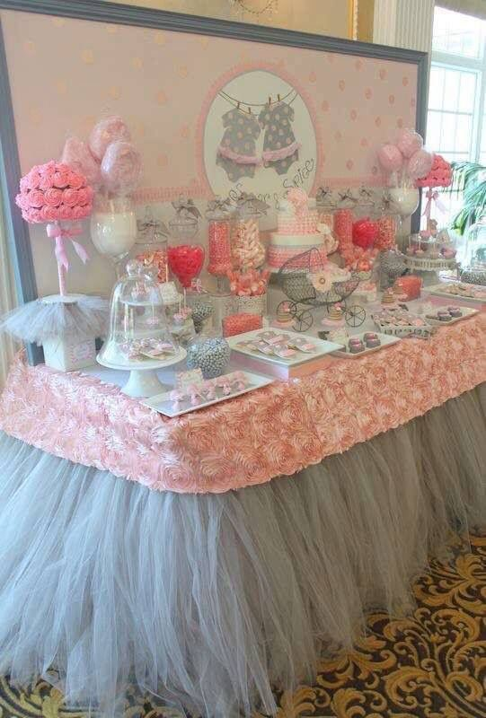 Tendencias en decoracion de mesas de postres para baby shower for Ideas para mesa de postres