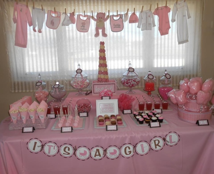 ideas de mesas de postres para baby shower 2