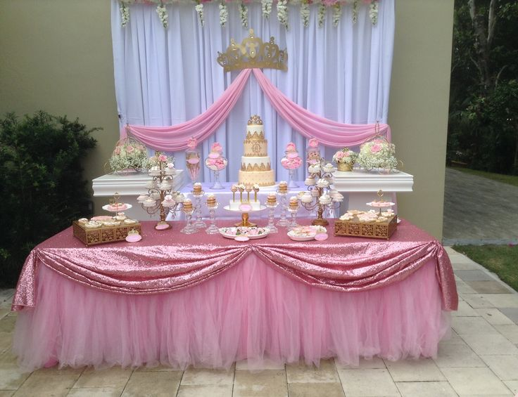 ideas de mesas de postres para baby shower 21