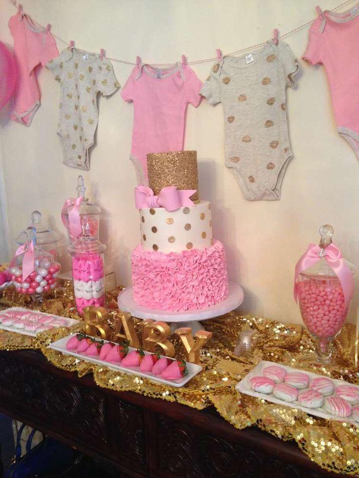 Ideas Para Baby Shower De Nina.Tendencias En Decoracion De Mesas De Postres Para Baby Shower