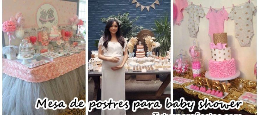 Ideas de mesas de postres para baby shower for Mesa de postres baby shower