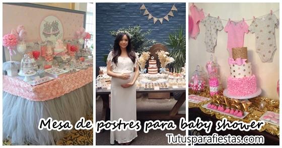 Mesa Baby Shower Nina.Tendencias En Decoracion De Mesas De Postres Para Baby Shower