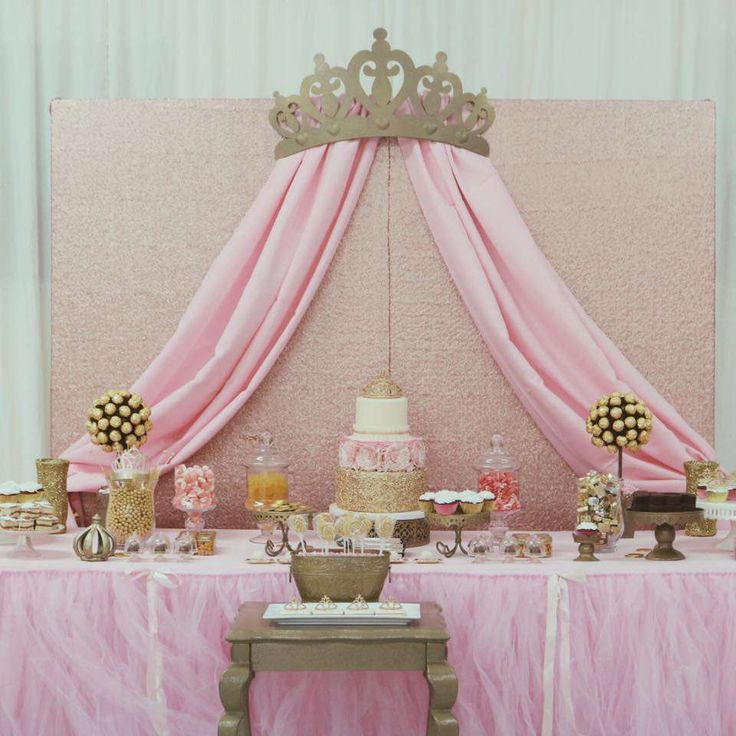 Ideas para mesa de postres Baby Shower de niña