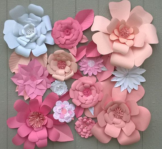 Ideas para decorar Baby Shower de niña con flores de papel