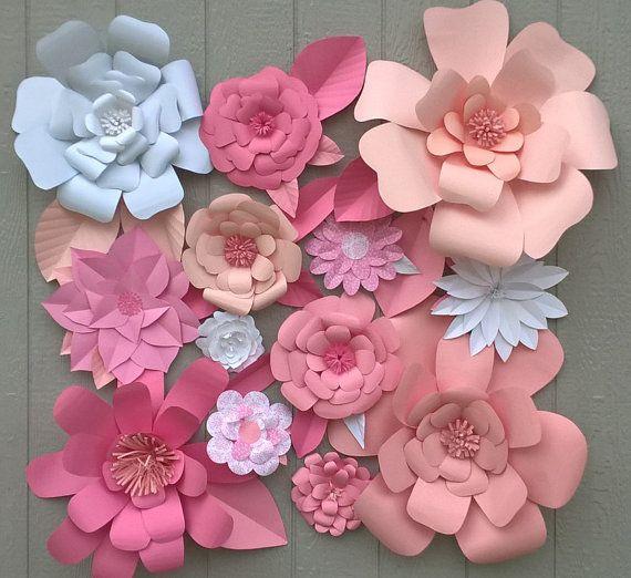 Ideas para decorar Baby Shower de niña con flores de papel