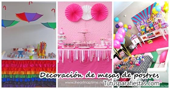 Ideas Para Decorar Mesas De Postres En Fiestas Infantiles - Decoracion-mesas-fiestas