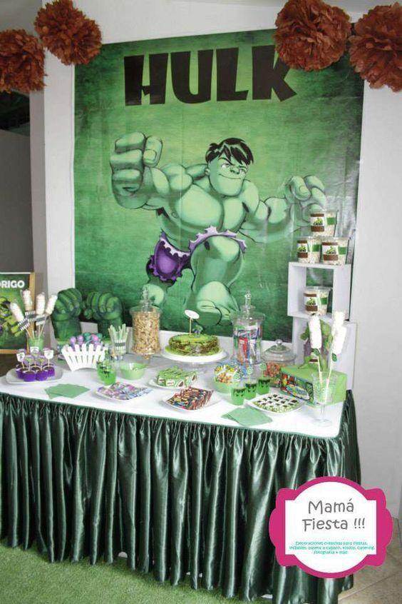 Ideas para fiesta de cumplea os con tema de hulk 15 - Adornos fiesta de cumpleanos ...
