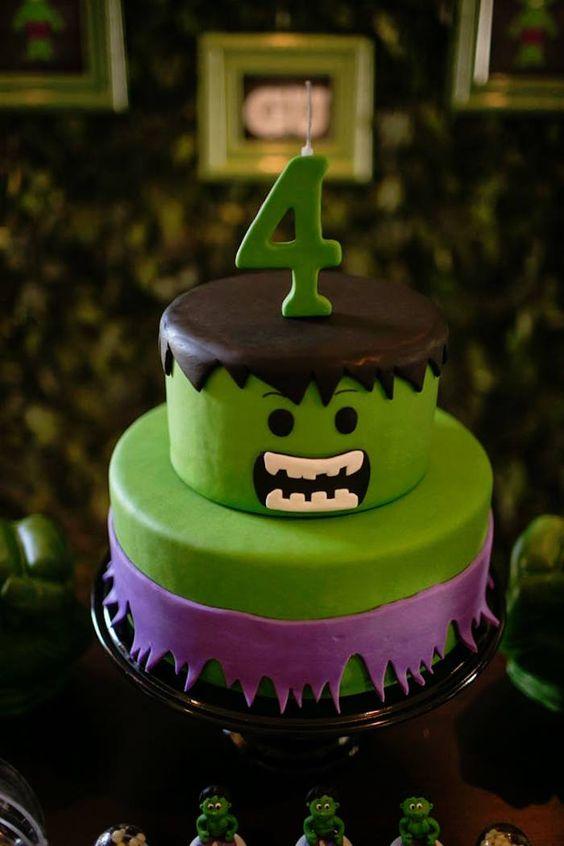 Ideas Para Fiesta De Cumplea 241 Os Con Tema De Hulk 30