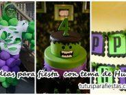 Ideas para fiesta de cumpleaños con tema de Hulk