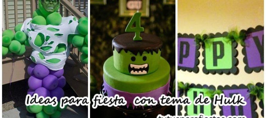 ideas para fiesta de cumpleaos con tema de hulk