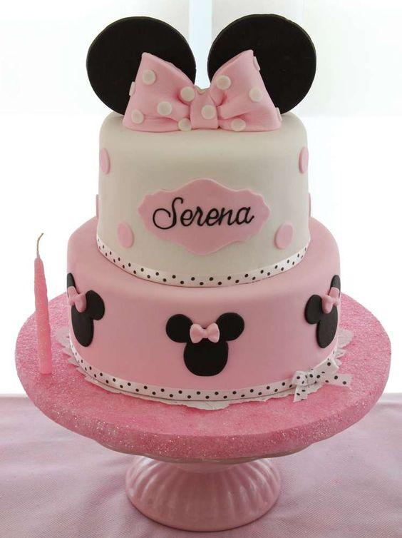 Pasteles Para Fiesta Infantil De Minnie Mouse 2 Decoracion De Fiestas Cumpleaños Bodas Baby Shower Bautizo Despedidas