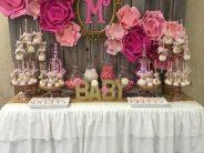 Ideas de mesas de postres para baby shower