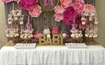 Ideas de mesas de postres para baby shower