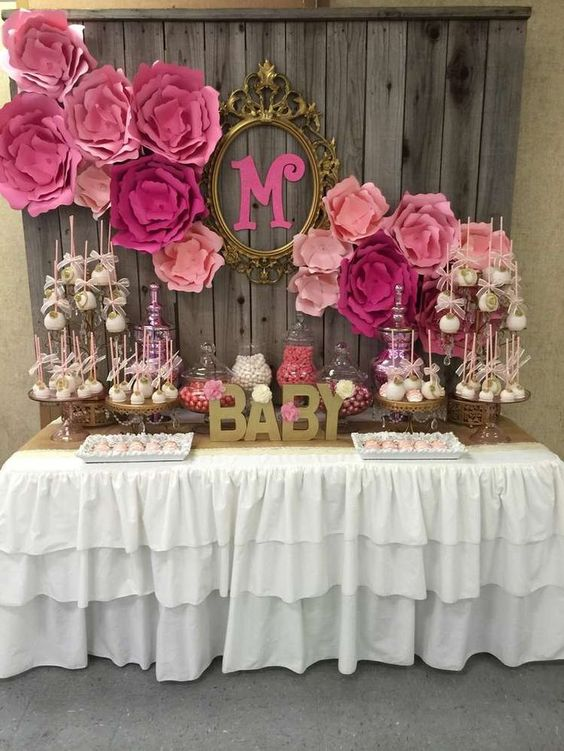 Tendencias en decoracion de mesas de postres para baby shower for Novedades para baby shower