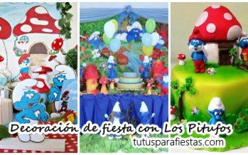 Ideas para decorar una fiesta con Los Pitufos – La aldea escondida
