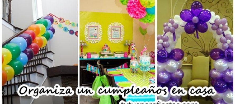 Como organizar un cumpleaños en casa