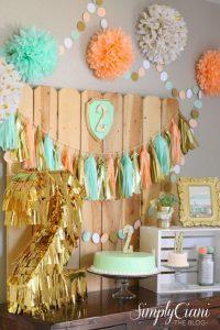 Decoracion Baby Shower Nino Moderna.Decoracion De Baby Shower Coral Con Dorado