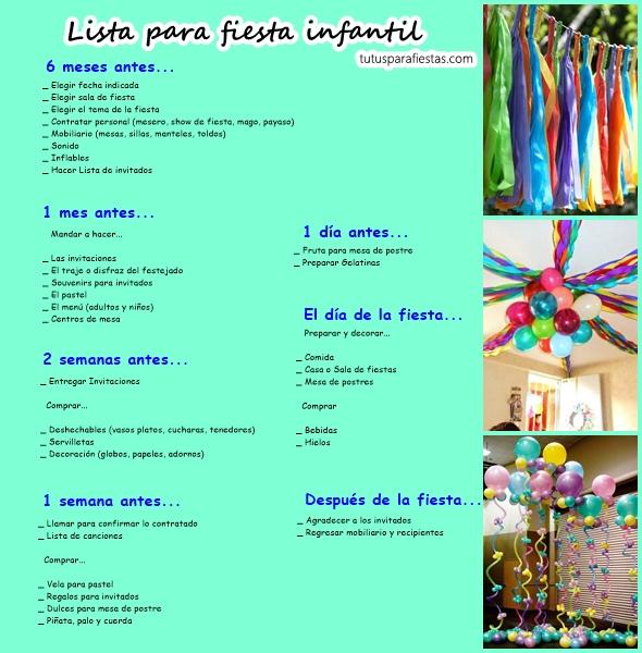 Lista para fiesta infantil - Fiesta cumpleanos infantil en casa ...