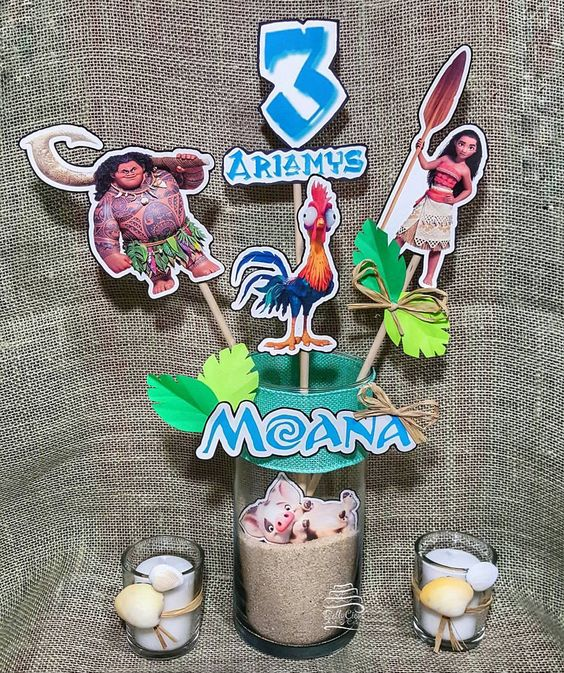 Centros de mesa para fiesta de moana 11 decoracion de - Las mesas fiestas 2017 ...