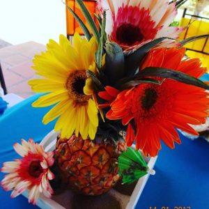centros de mesa para fiesta de moana