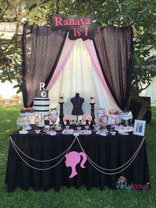 Decoración de Barbie para fiesta tematica cumpleaños