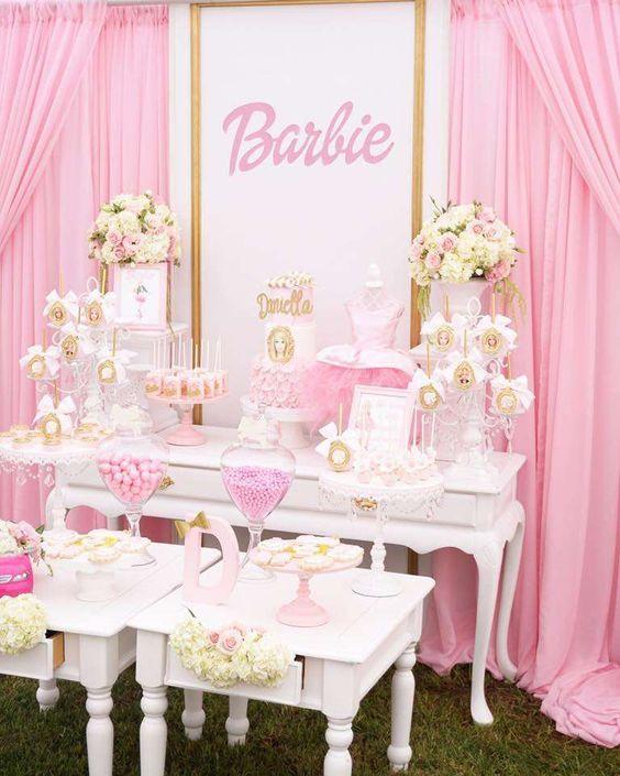 Decoraci n de barbie para fiesta tematica cumplea os for Decoracion para fiesta de cumpleanos de nina
