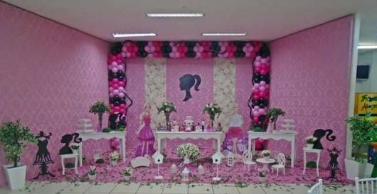 Decoracion de Barbie para cumpleanos