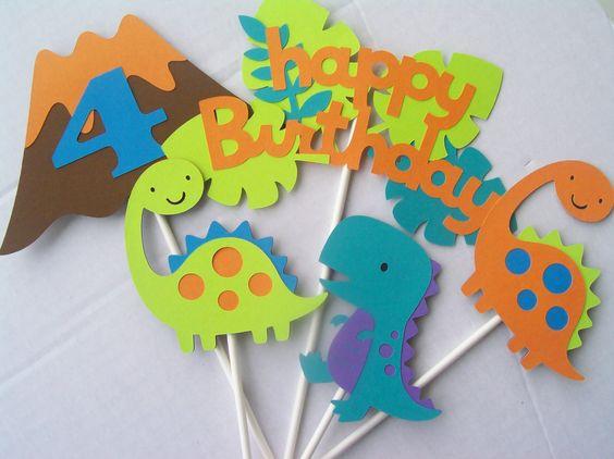 Decoración de dinosaurios para cumpleaños