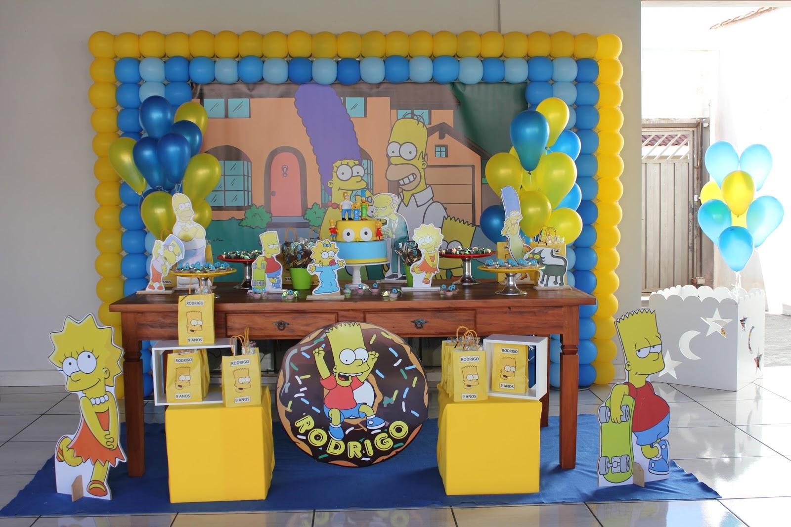 decoracion de fiesta de los simpson