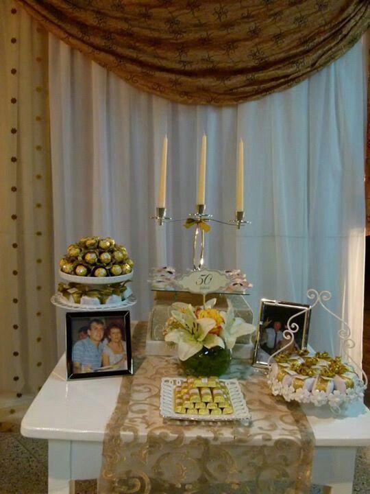 decoracion para bodas de oro 19 decoracion de fiestas On adornos para bodas de oro