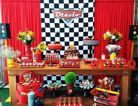 Fiesta infantil de cars 3 decoracion para cumplea os del for Decoracion de pared para fiestas infantiles
