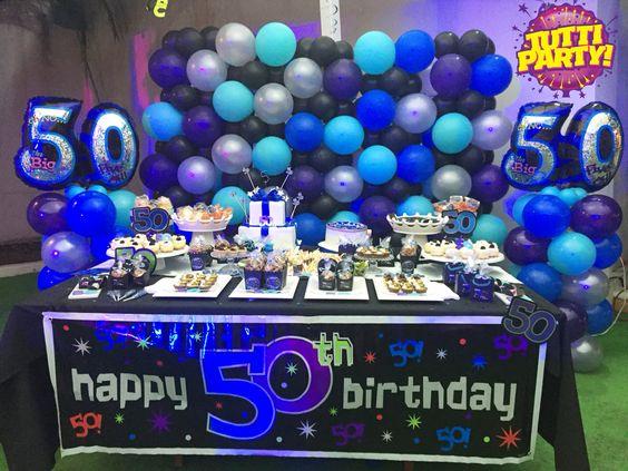 Fiesta para festejar los 50 a os 29 decoracion de for Decoracion de pared para 50 anos
