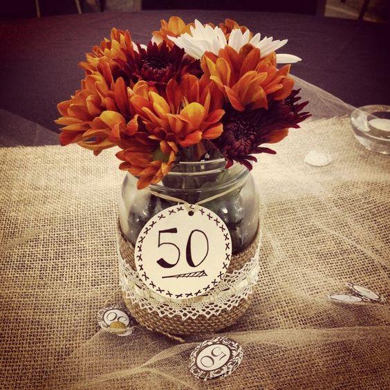 Fiesta para festejar los 50 a os 37 decoracion de - Ideas para celebrar 50 cumpleanos ...