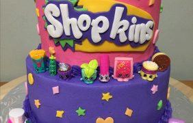 Pasteles para fiestas de shopkins