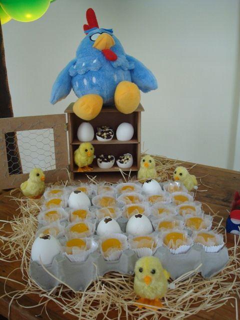 Decoración para fiesta de la gallina pintadita