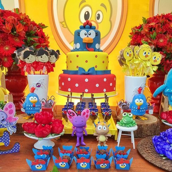 Mesas De Postres De La Gallina Pintadita Decoracion De Fiestas