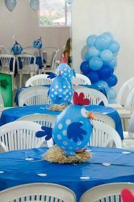 Centros de mesa de la gallina pintadita