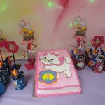Decoracion para fiesta de la gatita Marie