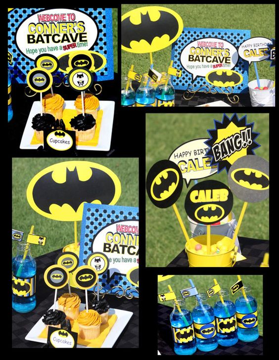 Ideas para mesas de postres de Batman