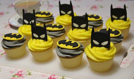 Cup cakes de batman