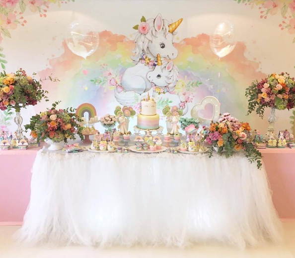Decoracion para cumplea os de unicornios 1 decoracion for Decoracion para pared de unicornio