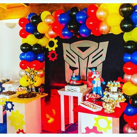 decoracion para fiesta de transformers 12 decoracion