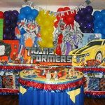 Decoración para fiesta de Transformers