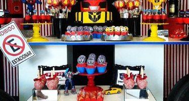 Decoración para fiesta de Transformers