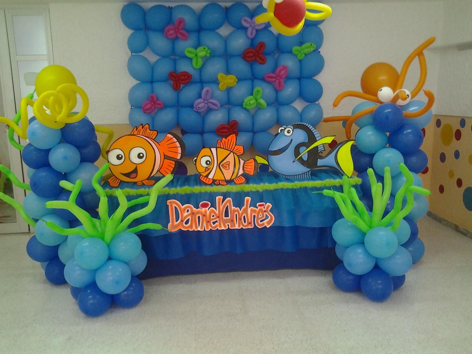 Decoraciones de nemo para cumplea os 26 decoracion de for Decoracion para pared de cumpleanos