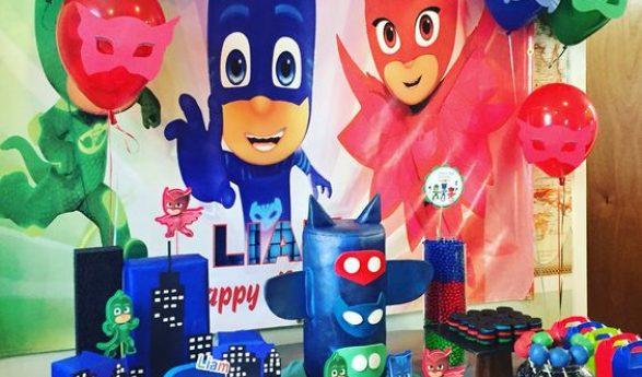Fiesta infantil temática de Pj Mask